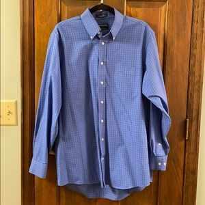 Stafford Blue Patterned Button Down
